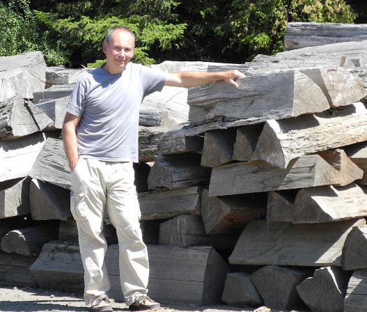 Filippo Donadoni visiting the Port Orford Cedar production area