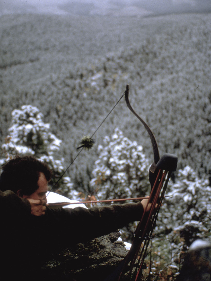 bowhunting in colorado with snow